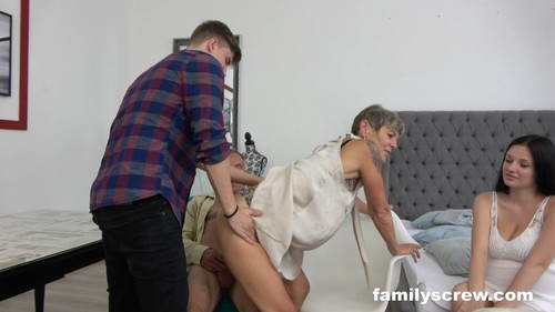 FamilyScrew 19 11 13 Grandpa And Pregnant Maid XXX 1080p MP4-KTR