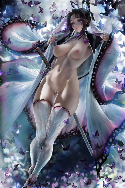 Sexy Butterfly Shinobu Kocho by Sakimichan   Kimetsu no Yaiba