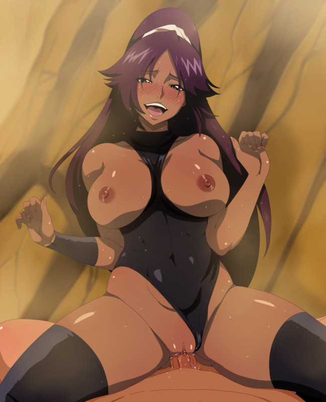 Yoruichi Shihouin Black and Tight Leotard by Inusen | Bleach Hentai 8