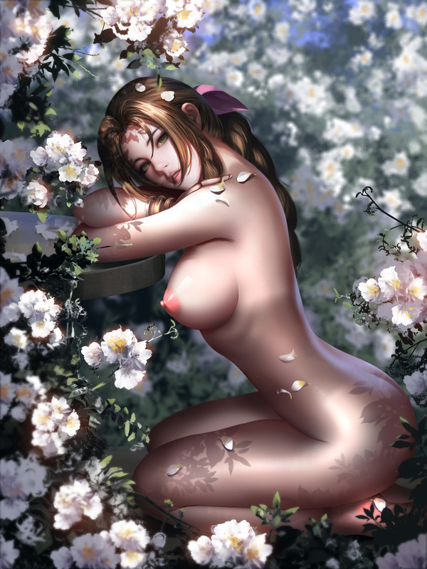 Aerith Gainsborough Sexy Flower by Liang Xing | Final Fantasy